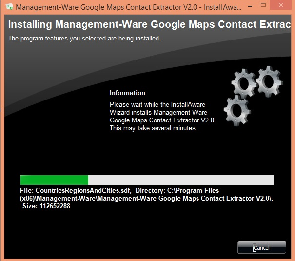 Google map data scraping software Installation steps